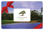 Cypresswood $25 Gift Card*